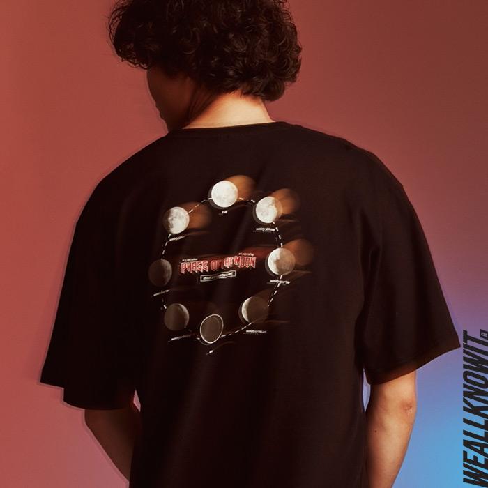 [위올노잇]WEALLKNOWIT 신상 반팔 티셔츠 WS103-블랙