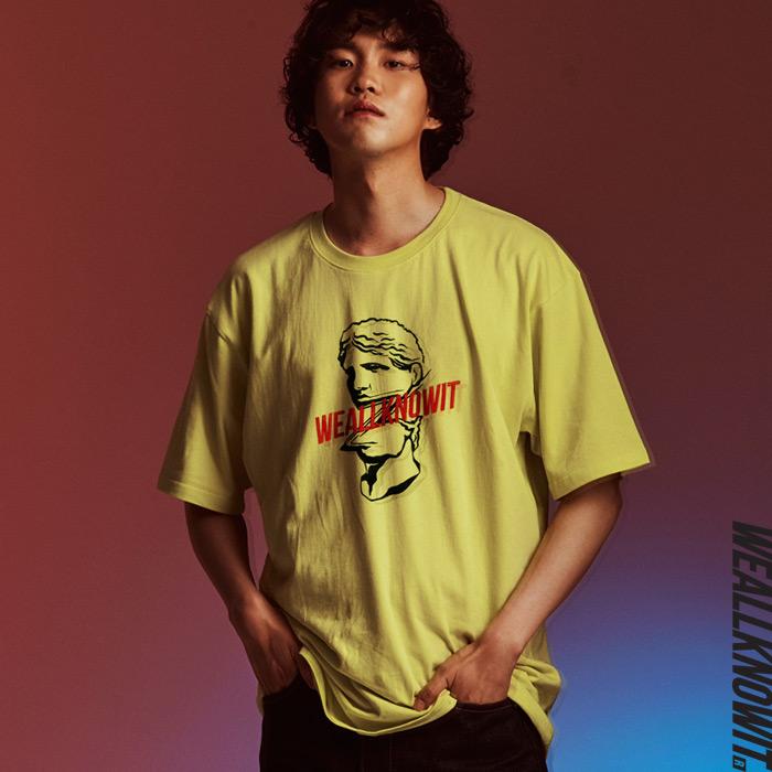 [위올노잇]WEALLKNOWIT 신상 반팔 티셔츠 WS107-라임