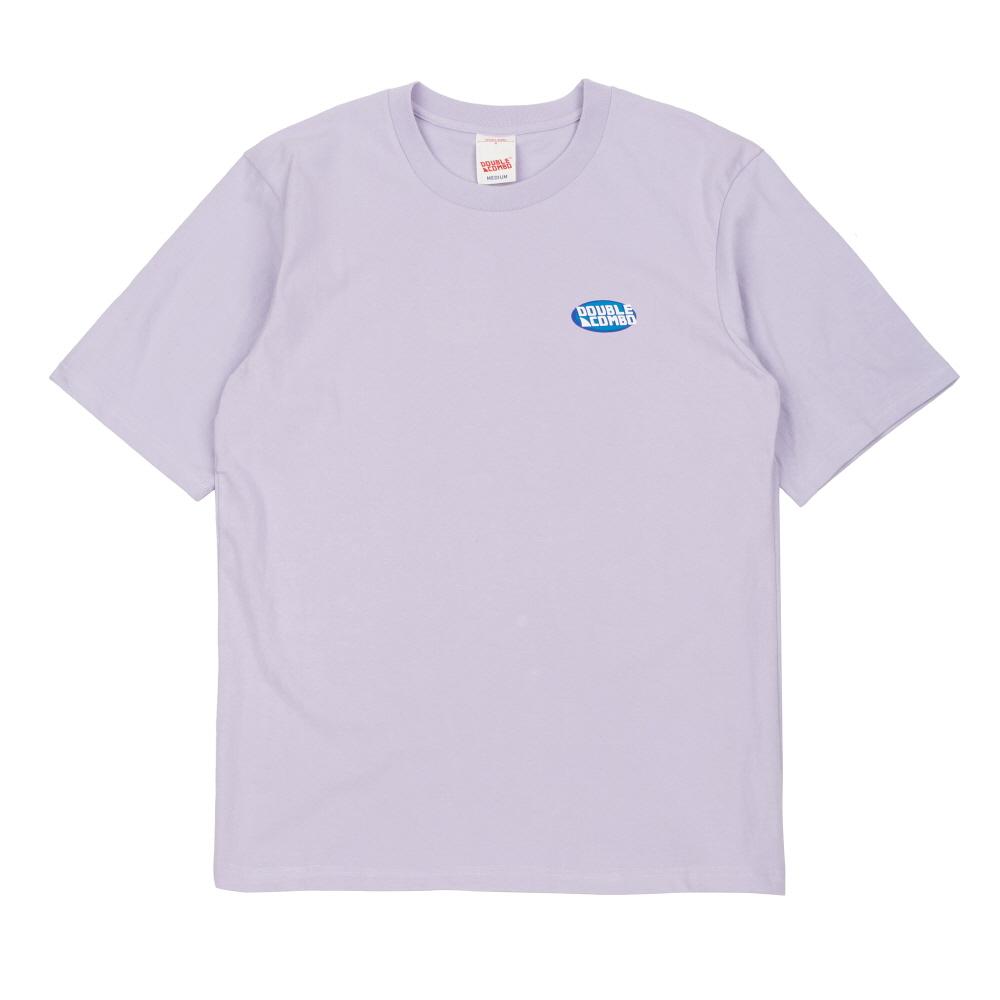 [더블콤보] DOUBLECOMBO - POOLSIDE PARTY TEE (LIGHT PURPLE) 반팔 반팔티 티셔츠