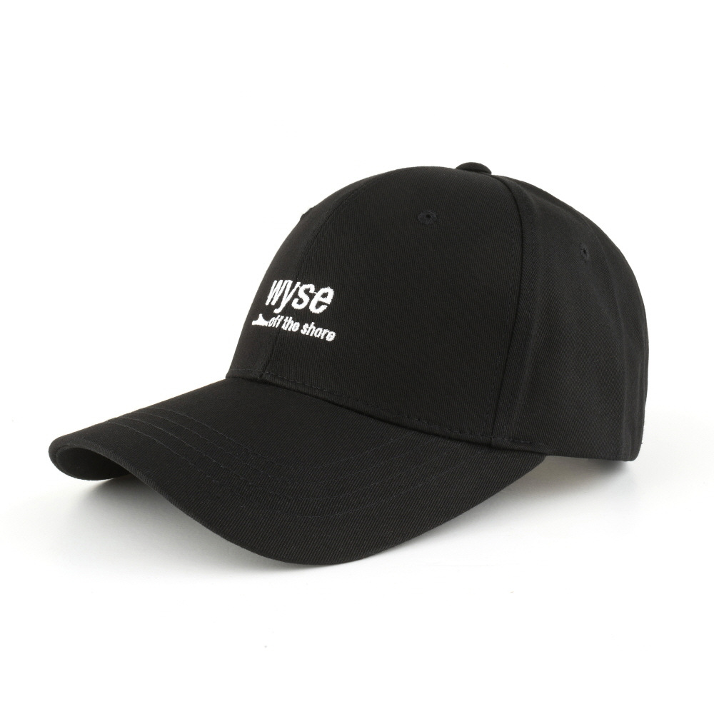 [와이즈] WYSE - OFF THE SHORE BALLCAP (BLACK) 모자 야구모자 볼캡