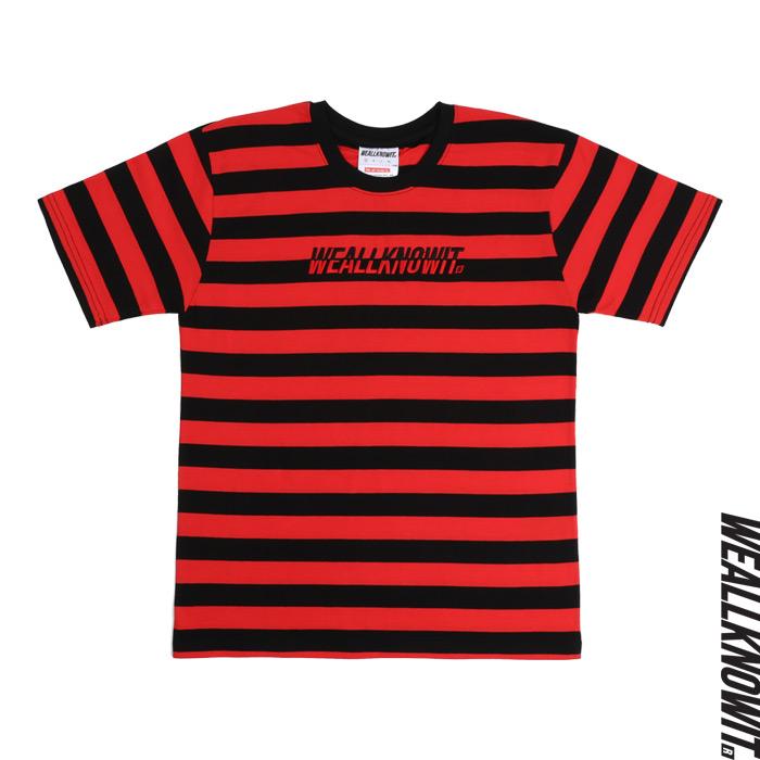 [위올노잇]WEALLKNOWIT 신상 단가라 반팔 티셔츠 WDA101-레드