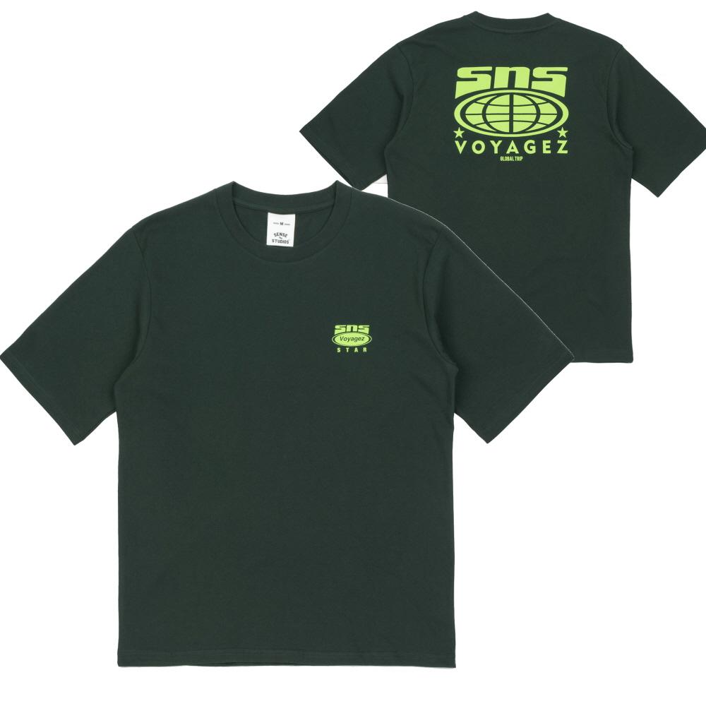 [센스스튜디오] SNS STAR T-SHIRT (GREEN) 반팔 반팔티 티셔츠