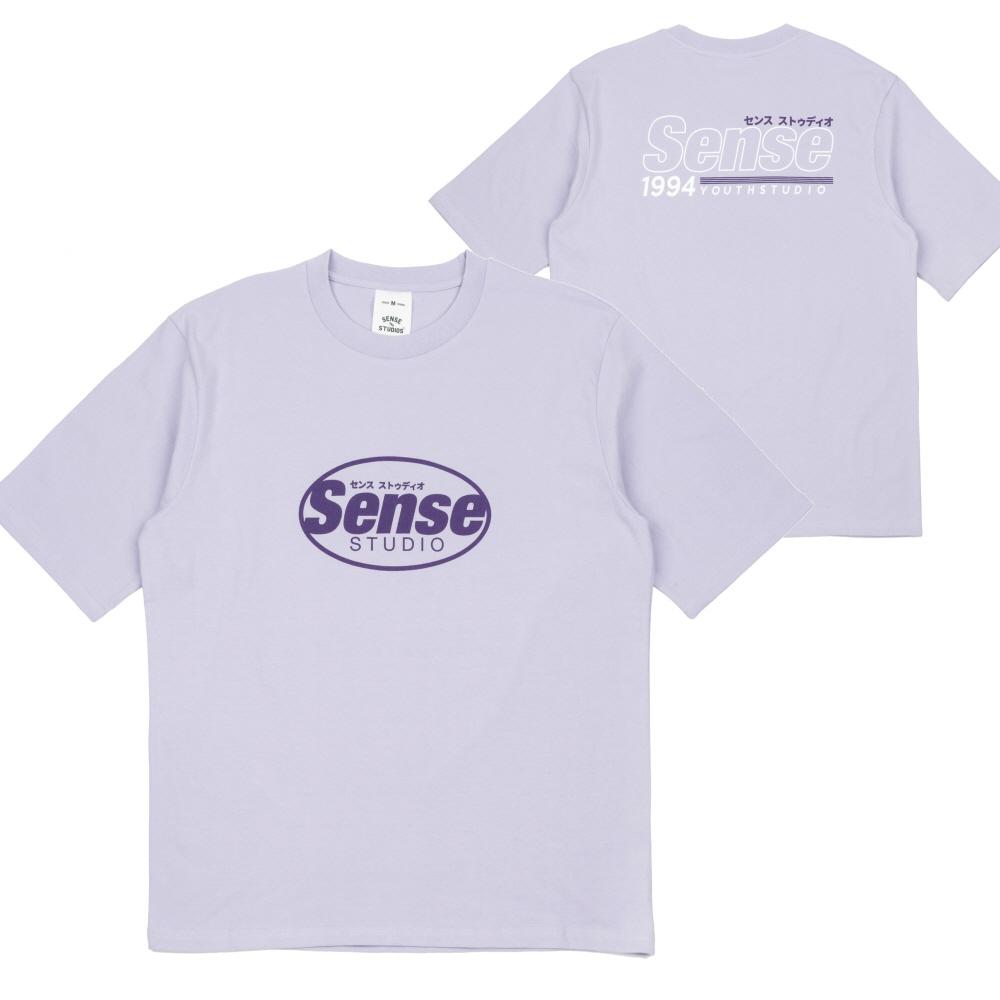 [센스스튜디오] OVAL SENSE LOGO T-SHIRT (L.PURPLE) 반팔 반팔티 티셔츠