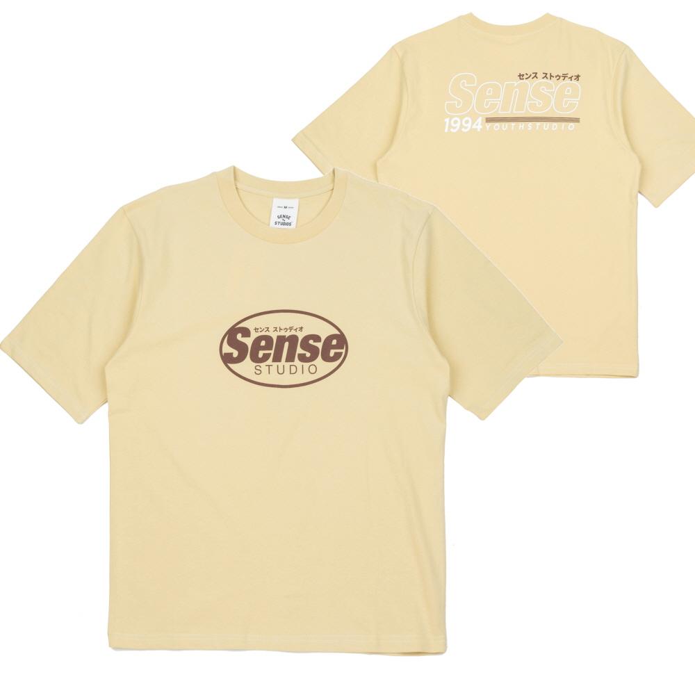 [센스스튜디오] OVAL SENSE LOGO T-SHIRT (YELLOW) 반팔 반팔티 티셔츠