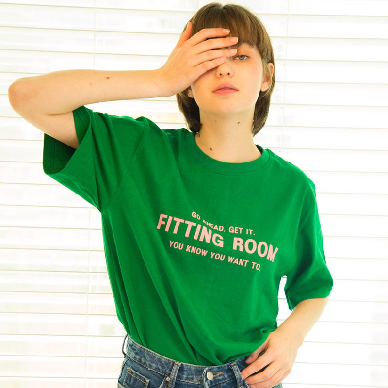 유니섹스 피팅룸 티셔츠 [그린] (16수)