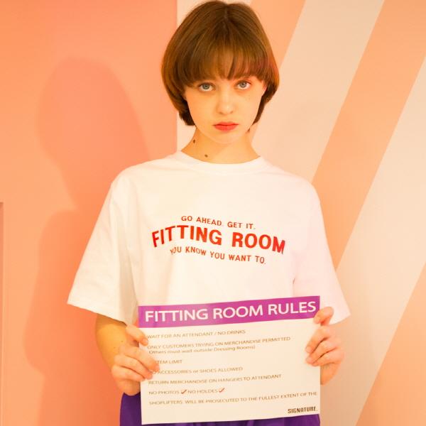 유니섹스 피팅룸 티셔츠 [화이트](16수)