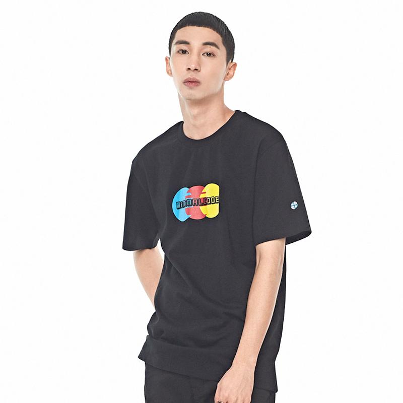 쓰리 서클 프린팅 티셔츠 블랙
