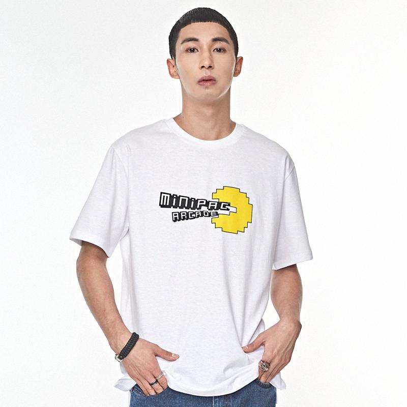 미니팩 아케이드 티셔츠 화이트