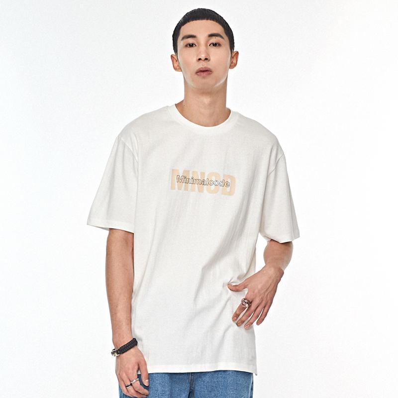 MNCD 프린팅 티셔츠 화이트