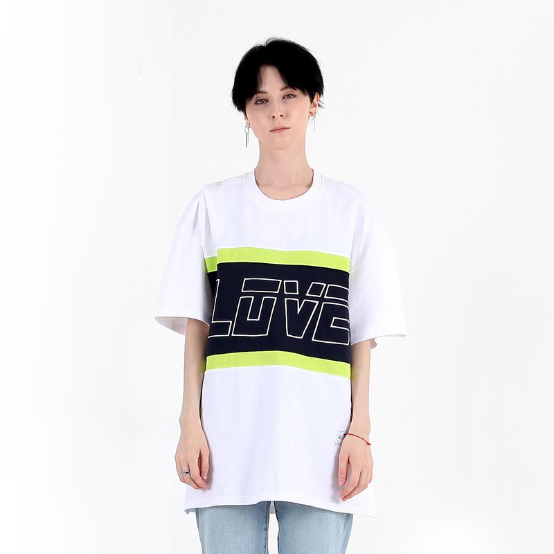 러브 라인 티셔츠 화이트