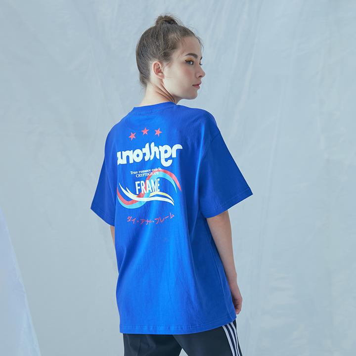 [어나더프레임] MIX COLOR T-SHIRT (BLUE) 반팔티 반팔 티셔츠