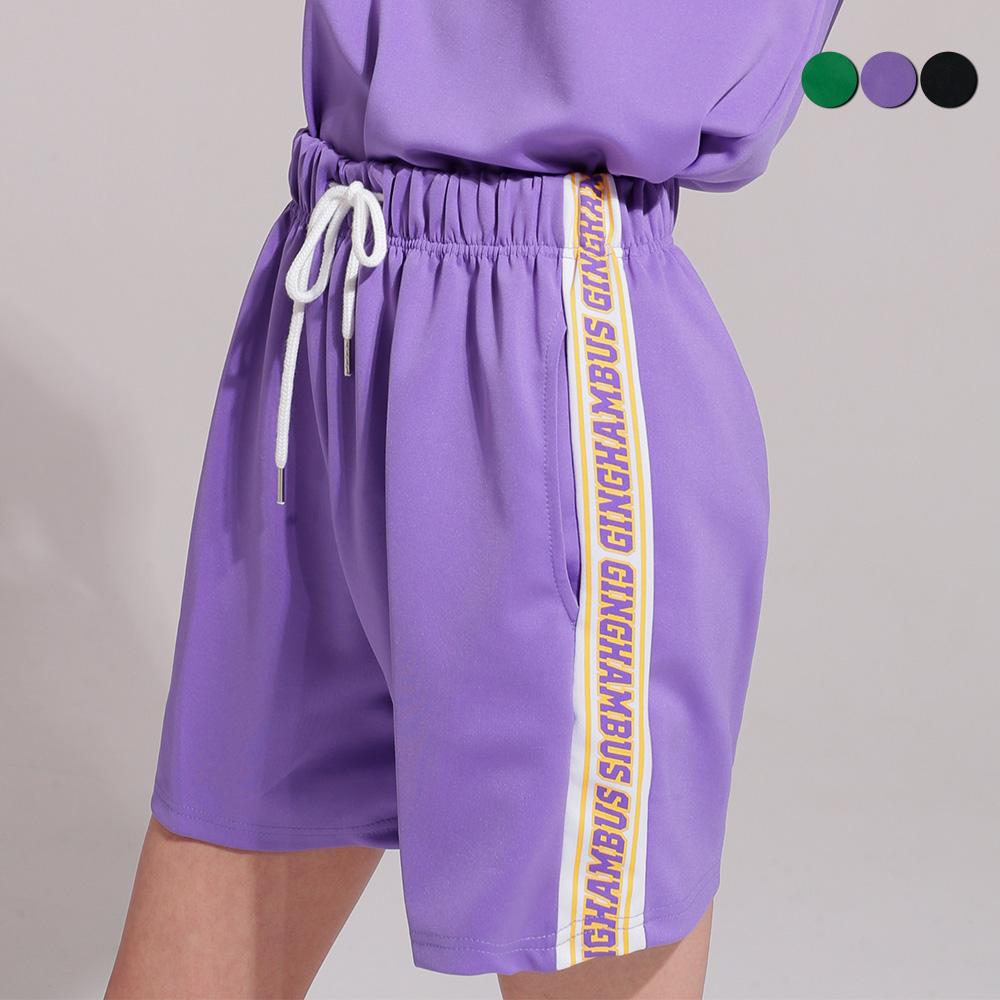 LOGO PRINT TRACK SHORTS(3color)(unisex)