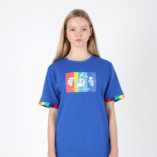 [TOi] TSW 레인보우 반발티셔츠 블루