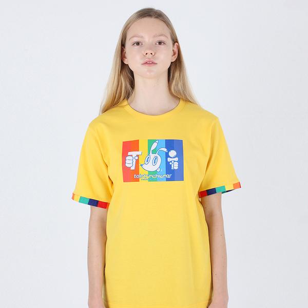 [TOi] TSW 레인보우 반발티셔츠 옐로우