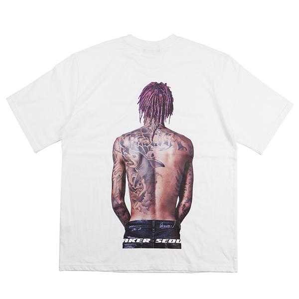 SWAG 백프린팅 티셔츠 (화이트)