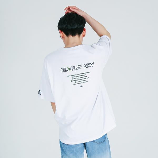 [EASYCLO] 16수_EAC CLOUDY SKY_프린팅 반팔(화이트)_남녀공용