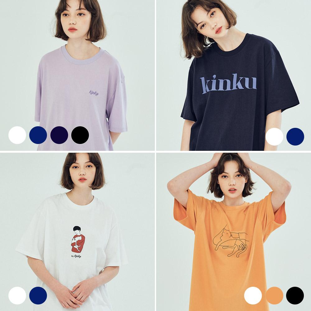 킨쿠라인 티셔츠 묶음 상품 (6COLOR)