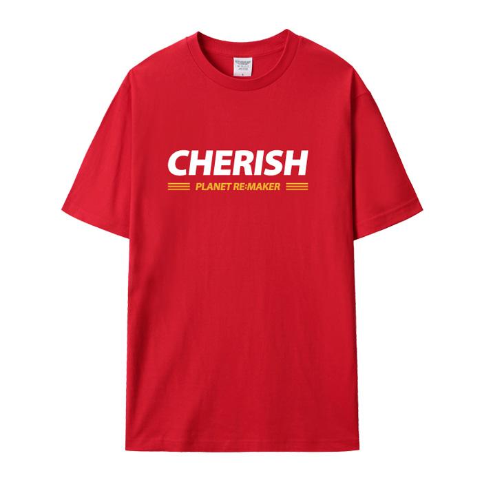 [UNISEX] CHERISH 루즈핏 반팔티 (레드)