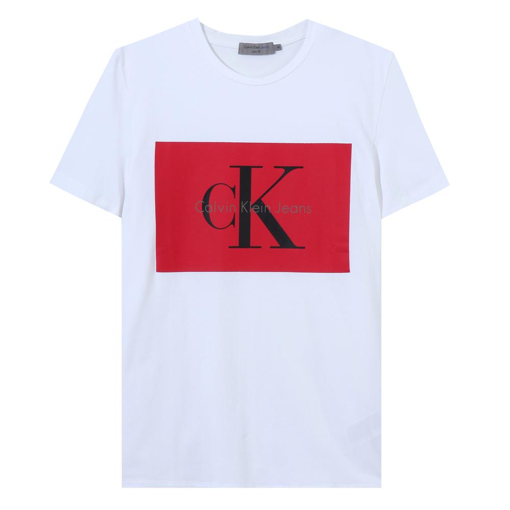 Calvin Klein Jeans slimfit 로고프린팅 J307554-405(화이트)