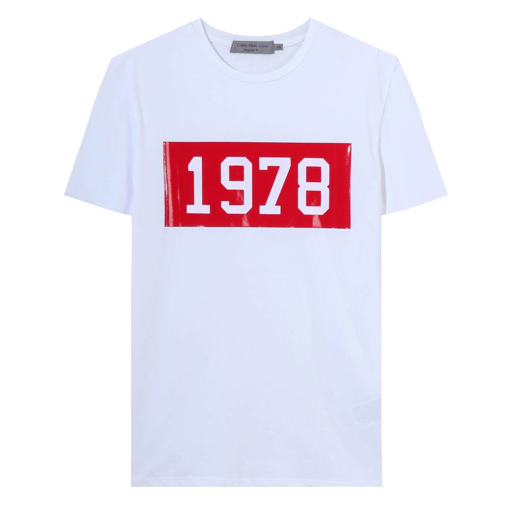 Calvin Klein Jeans slimfit 광택숫자 J307573-112(화이트)