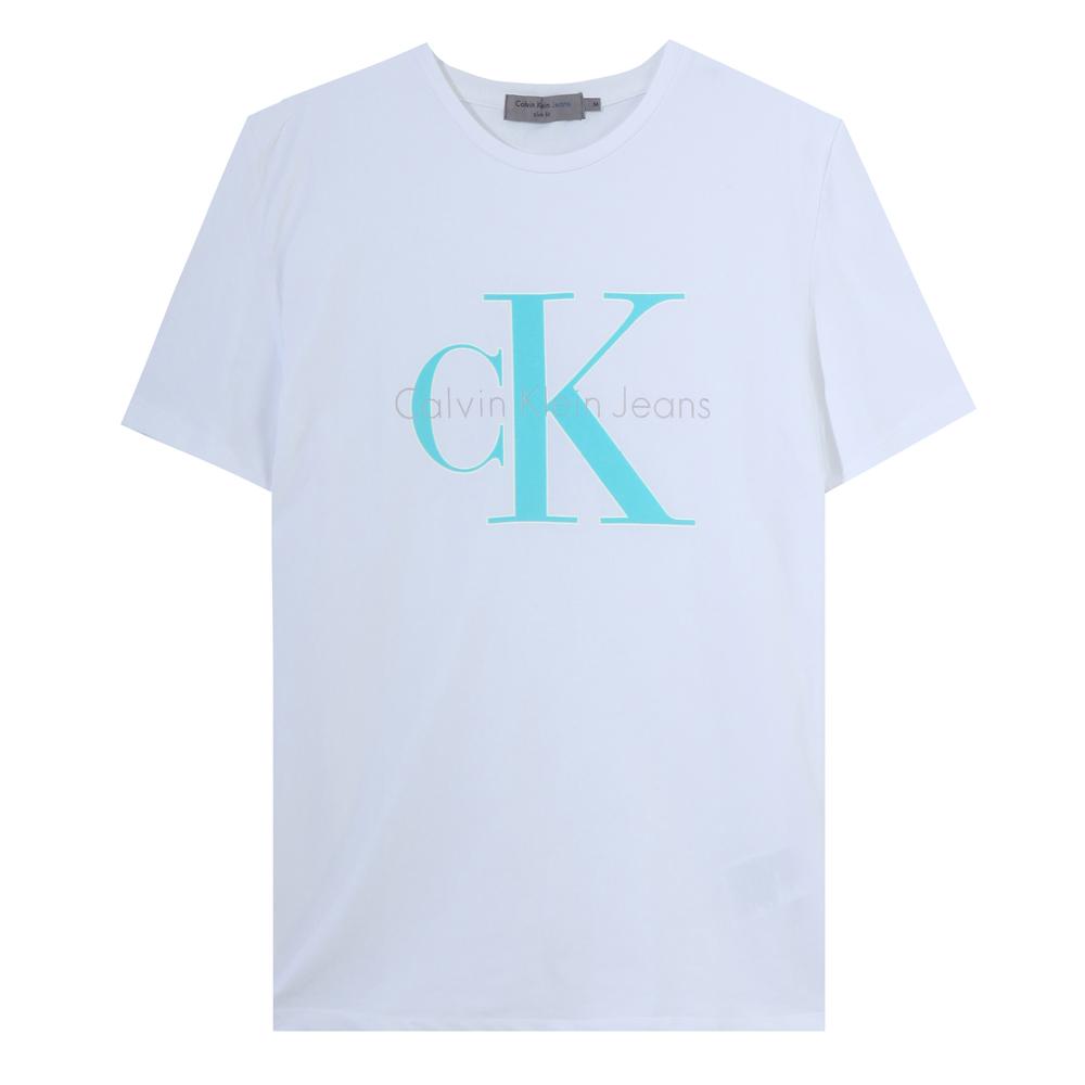 Calvin Klein Jeans slimfit 로고레터링 J307569-902(화이트)