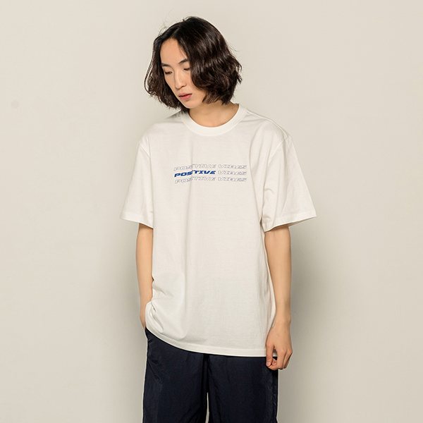 [168]POSITIVE VIBES SHORT SLEEVE(IVORY)