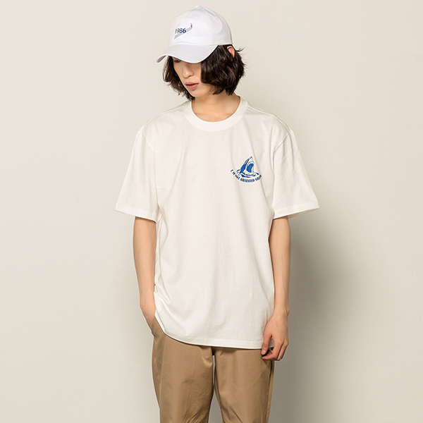 [166]SHARK LOGO SHORT SLEEVE(IVORY)