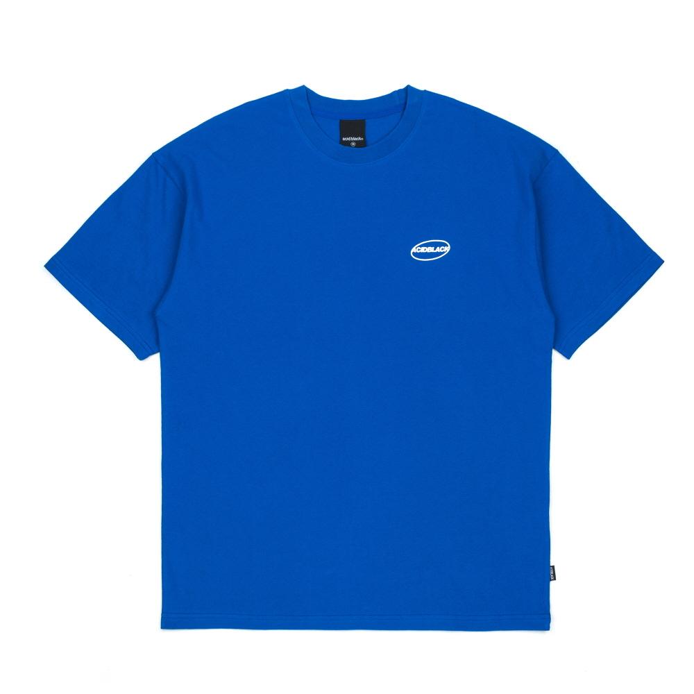 [에시드블랙] ACIDBLACK - UNIVERSE LOGO TEE (BLUE) 반팔 반팔티 티셔츠