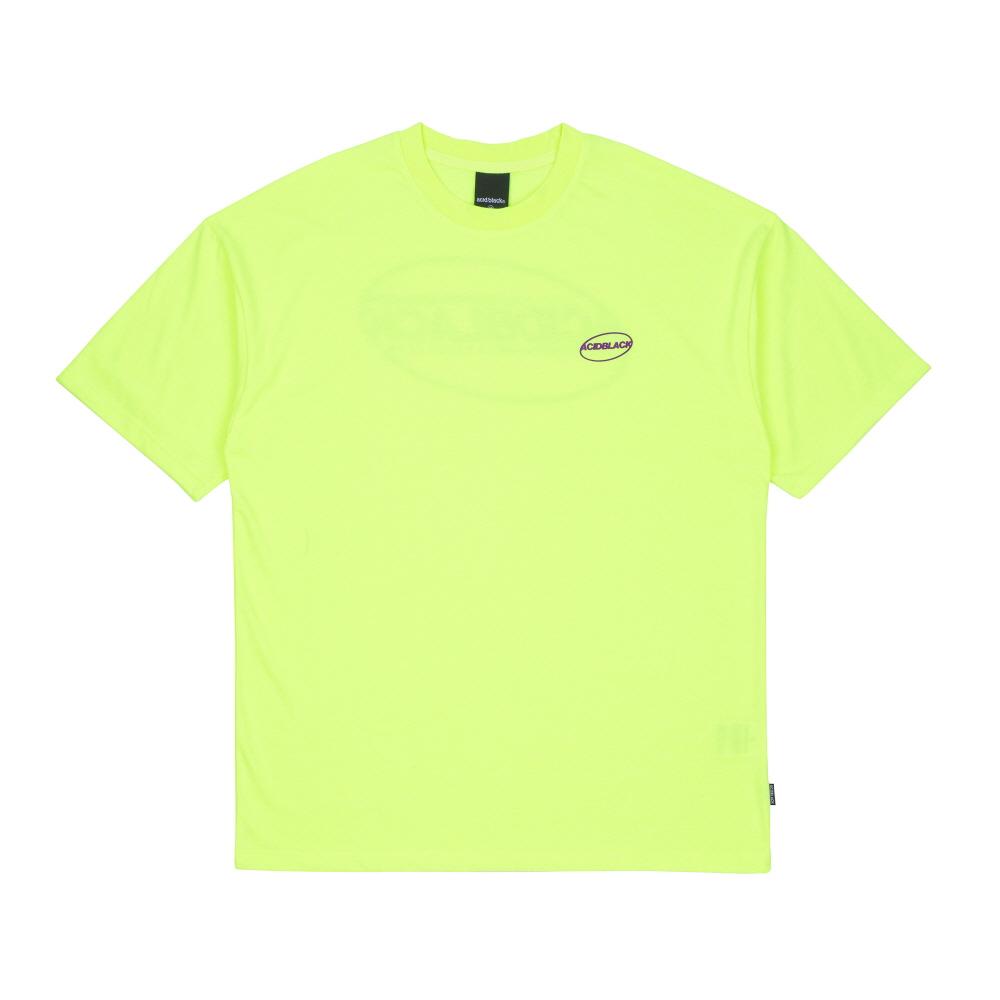 [에시드블랙] ACIDBLACK - UNIVERSE LOGO TEE (NEON) 반팔 반팔티 티셔츠