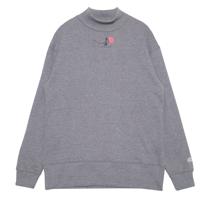 SINGLE ROSE MIDNECK SWEATSHIRT GREY