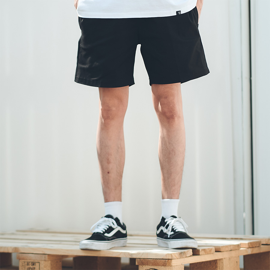 Twill Short Pants(Black)