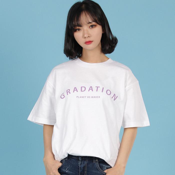 [UNISEX] 그라데이션 반팔티 (화이트)