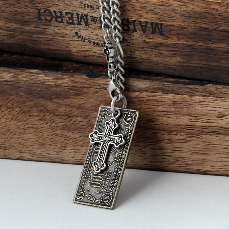 SVN-#117 슈가로코인십자가목걸이