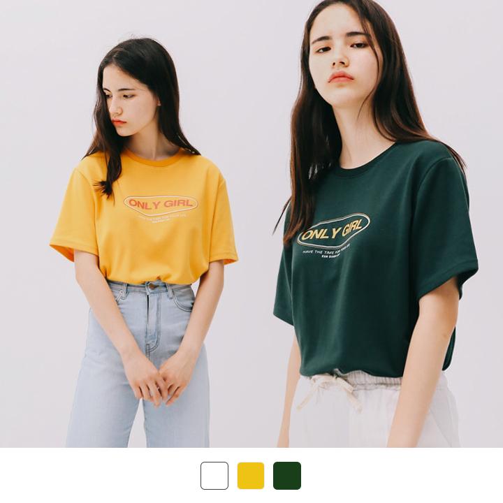 온리 걸 반팔 티셔츠 (3color)