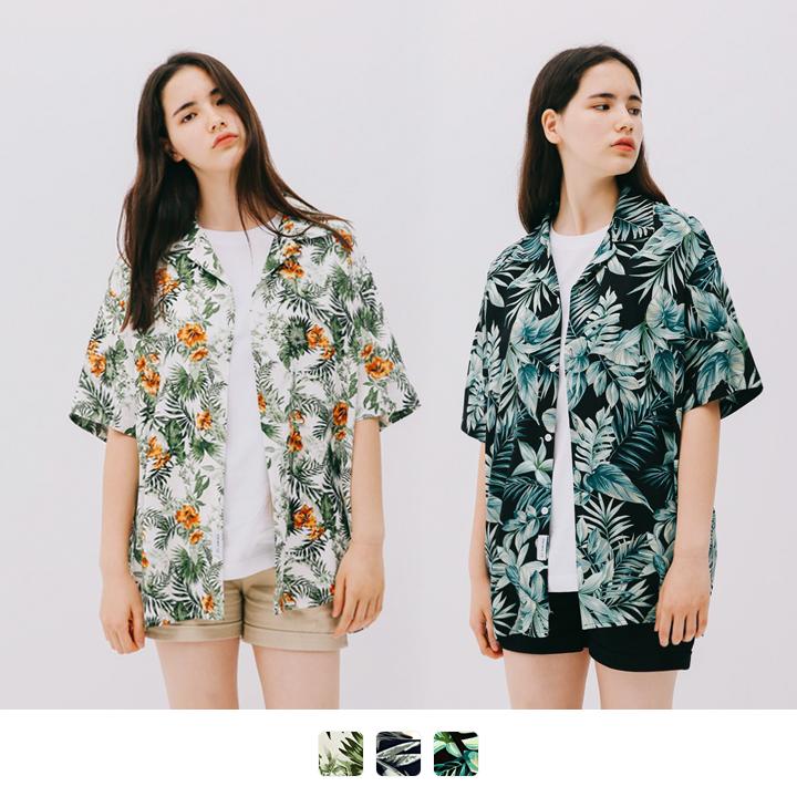 실키 하와이안 반팔 셔츠 (3color)
