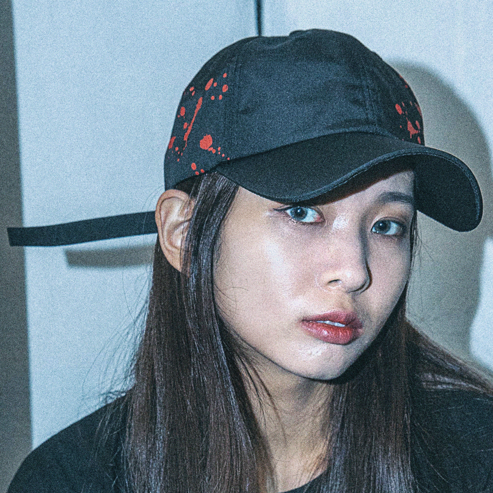 [아케이드코드] INK BOMB BALLCAP (BLACK/RED) 볼캡 야구모자 모자