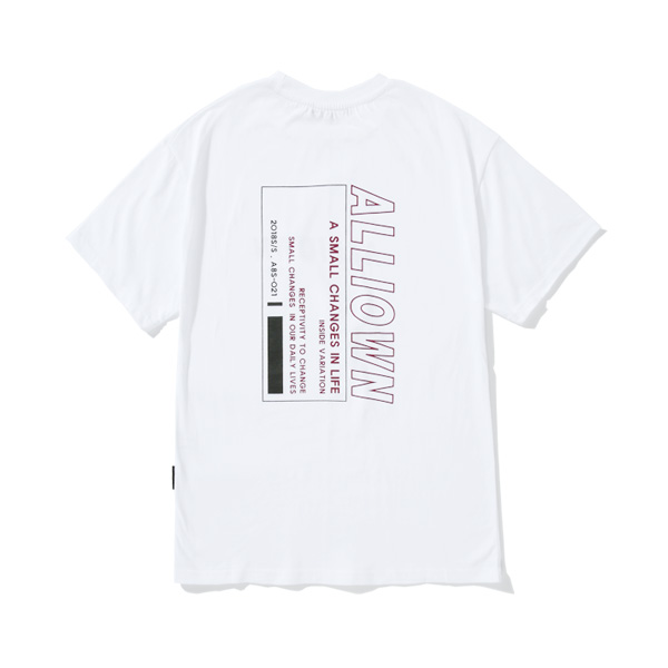 올라온 - Variation 반팔 - A8S-018 - White