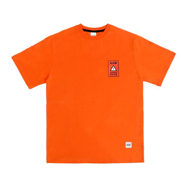 슬로우 포인트 티셔츠 (오렌지)