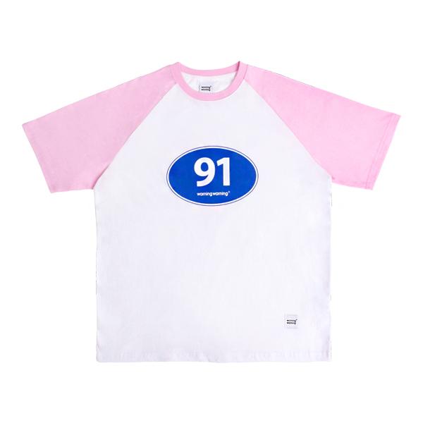 91 로드 레글런 티셔츠 (핑크)