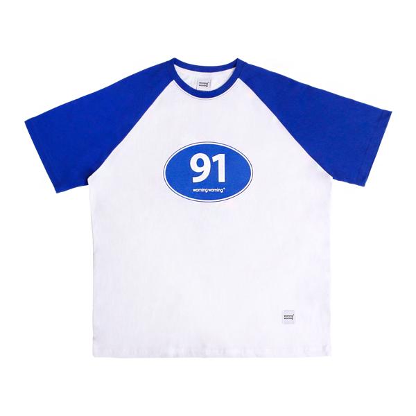 91 로드 레글런 티셔츠 (블루)