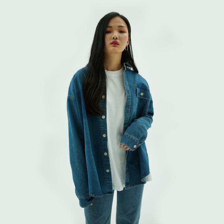XT25 싱글 포켓 데님 셔츠(BLUE)