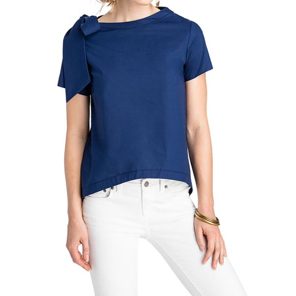 [해외]빈야드바인스 BOW NECK TOP 티셔츠 DEEP BAY 2W2374