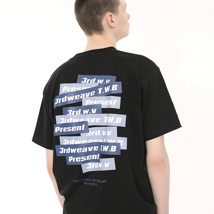 BOX LOGO ROUND T-SHIRT / BLACK
