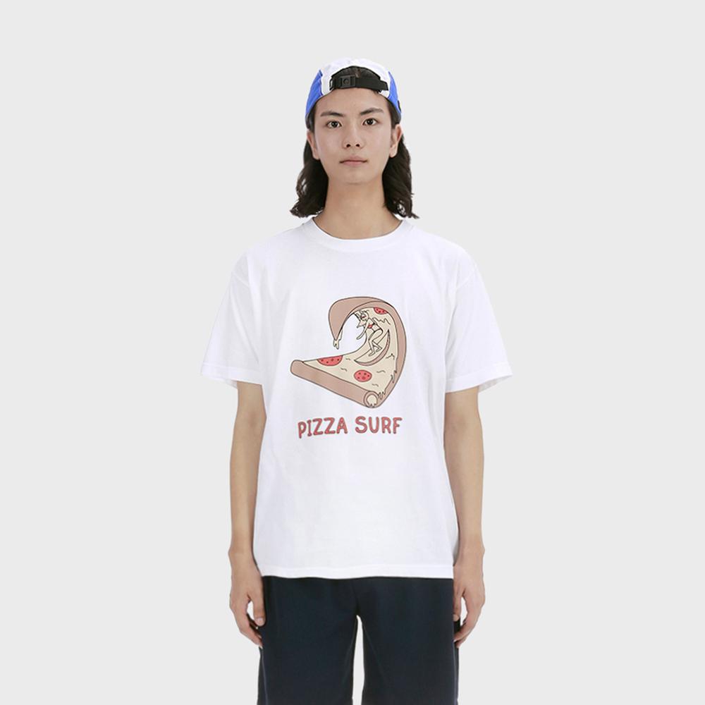 피자 서핑 티셔츠 [화이트]