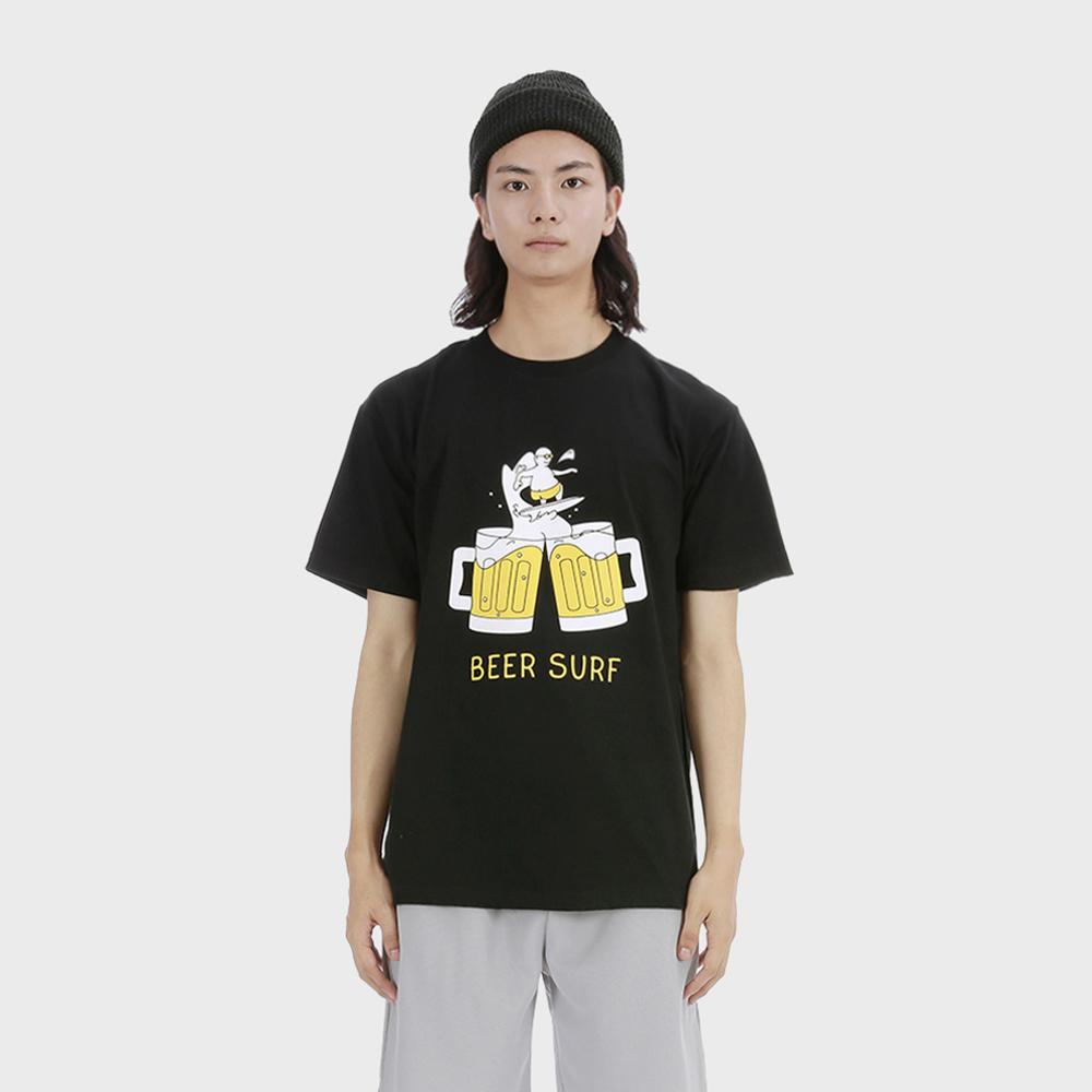 비어 서핑 티셔츠 [블랙]