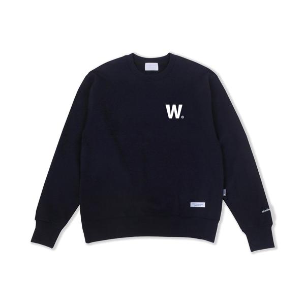 W 로고 스웨트셔츠(네이비)