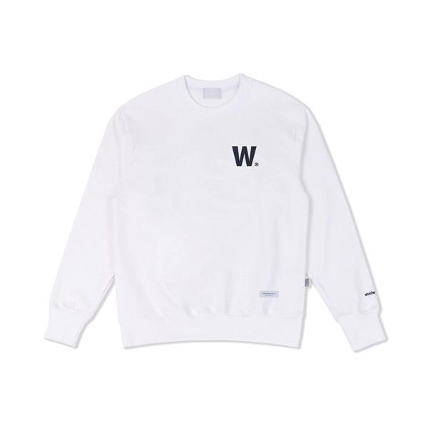W 로고 스웨트셔츠(아이보리화이트)