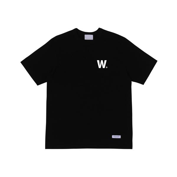 W 로고 티셔츠 (블랙)