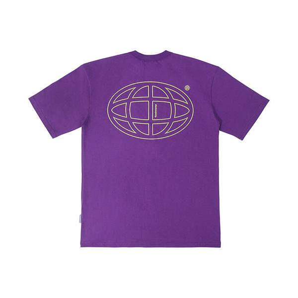 플래닛 그래픽 티셔츠 (퍼플)