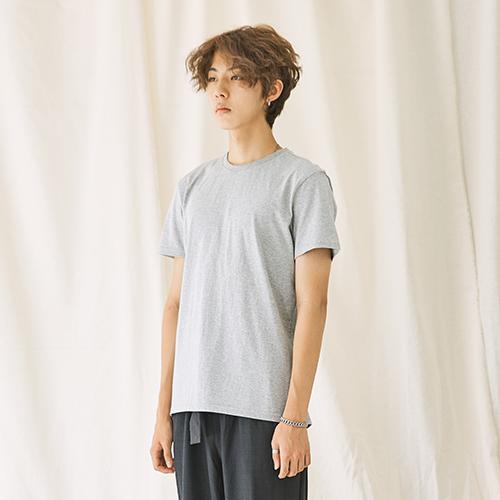 [자토] 히든밴드 (목늘어남방지) 유니섹스 기본 반팔티 - gray